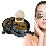 Eye Treatment Mask, Under Eye Patches, Eye Gel Pads, Collagen Eye Mask, Eye Hydrating Mask, Depuffing Eye Mask, Puffy Eyes Treatment, 60PCS Black Pearl Eye Patches for Dark Circles Puffiness Wrinkles