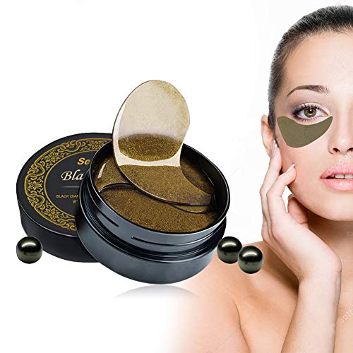 Eye Gel Pads Under Eye Mask Collagen Eye Mask Under Eye Patches Dark Circles Under Eye Treatment 60PCS Black Pearl Eye Patches for Eye Moisturizing, Dark Circles, Natural Firming, Puffiness Wrinkles