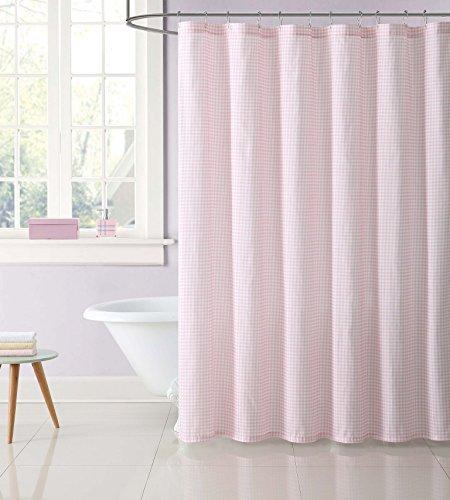 (My World SC2328PK-6200 Shower Curtain, Gingham Pink)