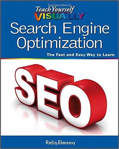 Teach Yourself VISUALLY Search Engine Optimization (SEO) 1st Edition