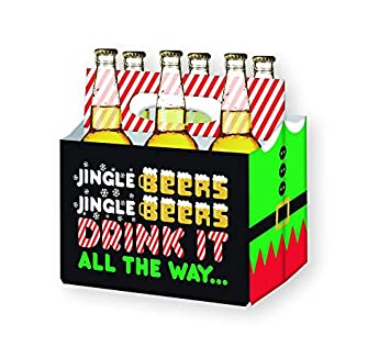Amazon.com: Holiday Beer Lovers Gifts - 6 Pack Craft Beer Carrier ...