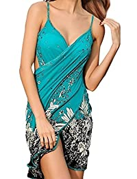 MuQing Women's Spaghetti Strap Backless Beach Dress Bikini Wraps Cover up