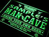 ADVPRO Name Personalized Custom Man Cave Soccer Bar Beer Neon Sign Green 24'' x 16'' st4s64-qd-tm-g
