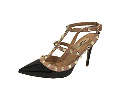 038412af9ce Kaitlyn Pan Women's Leather Studded Slingback High Heel Pumps