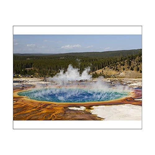 Third Geyser Basin - Media Storehouse 20x16 Print of Elevated view of Grand Prismatic Spring, the largest in the U (13984528)