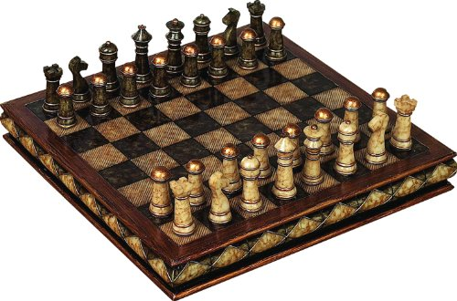 Deco 79 Poly-Stone Chess Set, 10 by ()