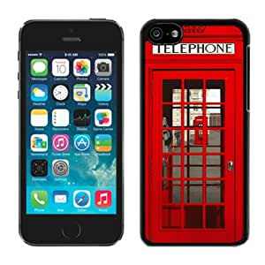 Fashionable Red Telephone Black Cell Phone Case for iPhone 5c Generation