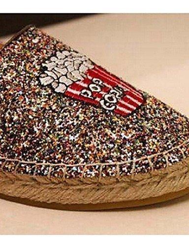 Zapatos Uk6 Plano Zq Oro Tejido Cn39 Eu39 Golden De Tacón us8 Mocasines Mujer Comfort Casual SppdqwO