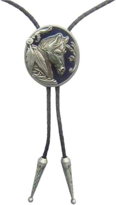 Vintage silver horse head bolo tie
