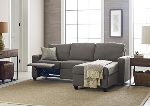 Serta 308702087R Palisades Sectional Not Applicable, Moonlight Gray (Right Facing Chaise)