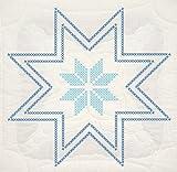 Fairway 92696 Quilt Blocks, Cross Stitch Star Design, White, 6 Blocks Per Set