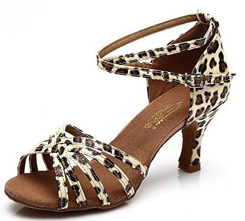 KUKI zapatos de baile latino para adultos con zapatos de baile aumentaron los zapatos de suela suave 3
