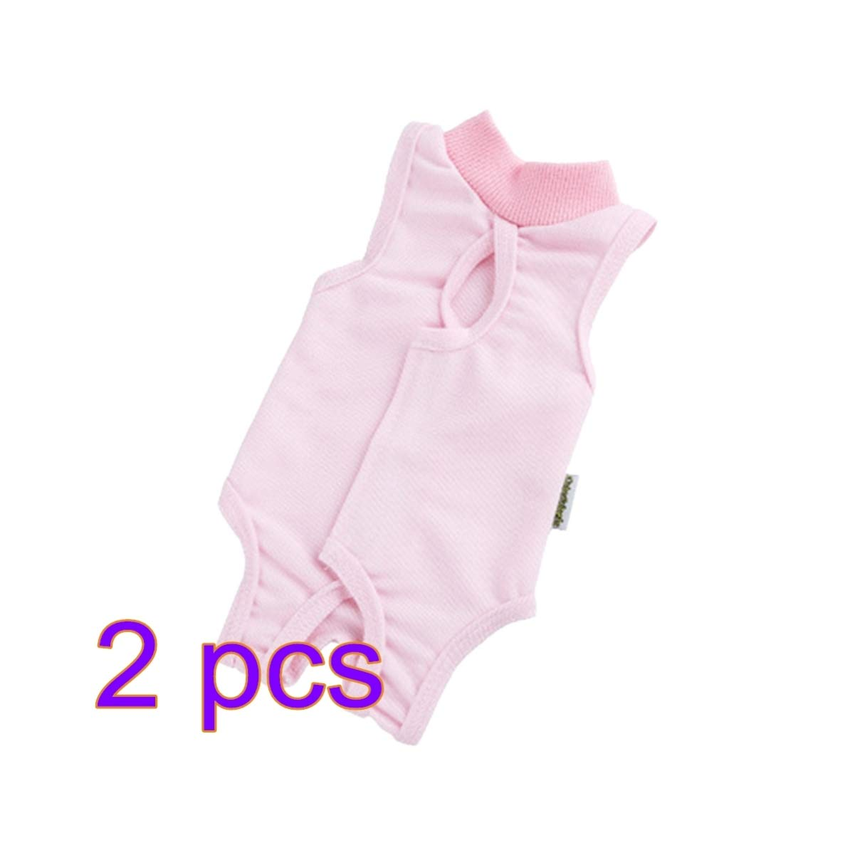POPETPOP 2Pcs Cat Recovery Suit Surgery, Anti-Lick Kitten Medical Jumpsuit, Pet Jumpsuit for Cats Dogs Weaning Keep Warm - Size M (Pink) by POPETPOP