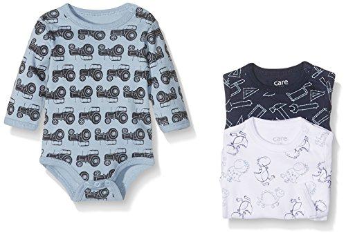 Care Baby-Jungen Body 4132, 3er Pack, Mehrfarbig (Royal Blue 750), 104