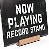Well Made Now Playing Vinyl Record Album Cover Display Stand in Oak