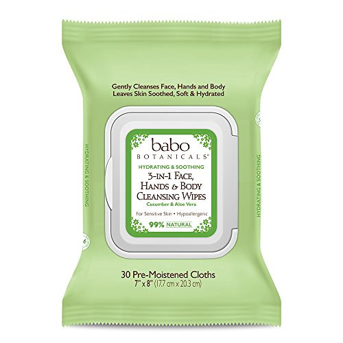 Babo Botanicals 3-in-1 Hydrating Wipes, Cucumber & Aloe, 30 Count