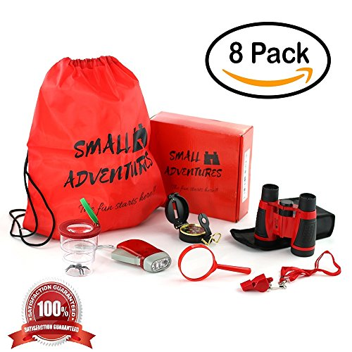 8 In 1 Outdoor Exploration Kit  Children S Toy Binoculars Set For Kids   Flashlight  Compass  Whistle  Magnifying Glass  Kids Set For Camping  Hunting  Hiking   Bird Watching  Pretend Play