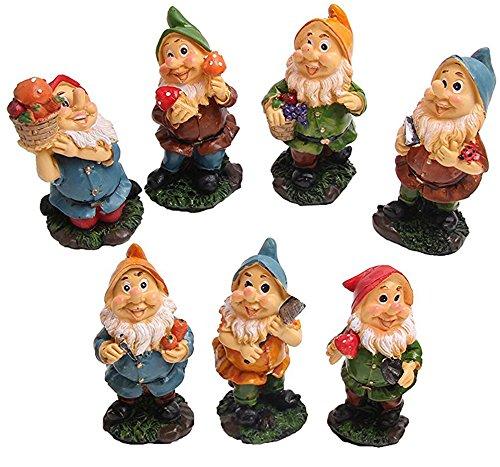 Mini Zwerge Feen Garten Set 7 Zwerge Figuren Mit Pilzen Und