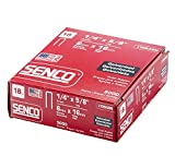 Senco L10BABN 18 Gauge by 1/4-inch Crown by 5/8-inch Electro Galvanized Staples (5,000 per box)