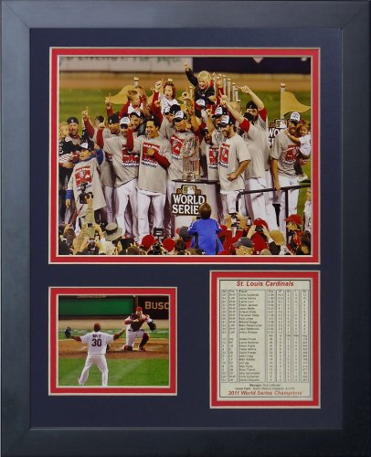 (Legends Never Die 2011 St. Louis Cardinals Podium Framed Photo Collage, 11x14-Inch)