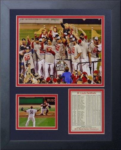 Legends Never Die 2011 St. Louis Cardinals Podium Framed Photo Collage, 11x14-Inch