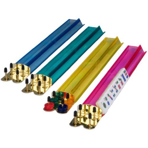 18 Inch Jewel Tone Multi-Color Acrylic Mahjong Racks - Set of 4