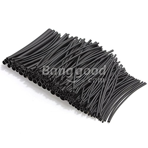 Global 180pcs Assortment 2:1 Heat Shrink Tubing Tube Kit Sleeving Wrap 6 Size by Global