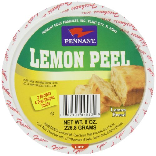 Pennant Diced Lemon Peel, 8 Ounce