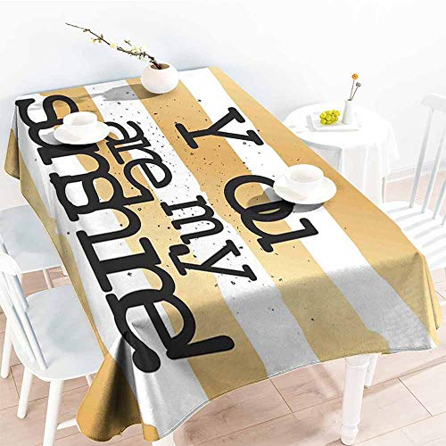 Onefzc Fashions Rectangular Table Cloth,Quotes Decor Big Greeting Love Valentines Text on Crossed Positive Philosophy Life Graphic Design,Fashions Rectangular,W50x80L Black Gold