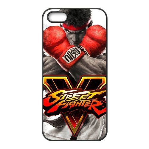 Street Fighter V 16 coque iPhone 4 4s cellulaire cas coque de téléphone cas téléphone cellulaire noir couvercle EEECBCAAN02882