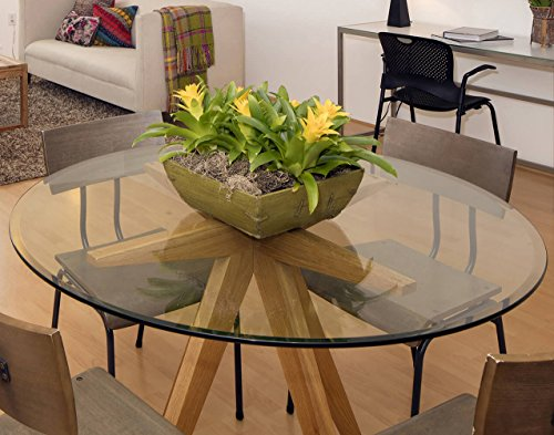 36 Quot Inch Round Glass Table Top 3 8 Quot Thick Tempered Beveled
