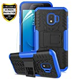 samsung galaxy j2 Samsung Galaxy J2 Case,Galaxy J2 Core Case/J2 Dash/J2 Pure/J260/J2 Shine,Numy Dual Layer Shockproof,w HD Screen Protector,Protective w Kickstand Hard PC & Soft TPU Case,Attractive Tire Appearance-Blue