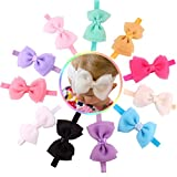 Doinshop 2015 New 11PC Babys Girls Flower Sequins Bowknot Photography Hairband Headband