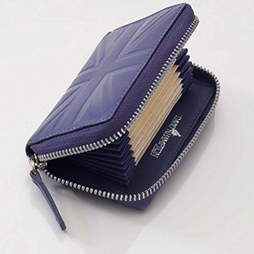 David Hampton Luxury Leather Zip Around Wallet Thistle