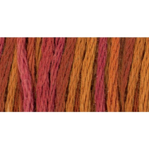 - DMC 417F-4130 Color Variations Six Strand Embroidery Floss, 8.7-Yard, Chilean Sunset