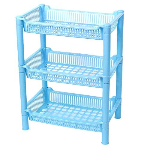 ® Plastic Home Bathroom Kitchen Shelf Storage Rack Holder 3