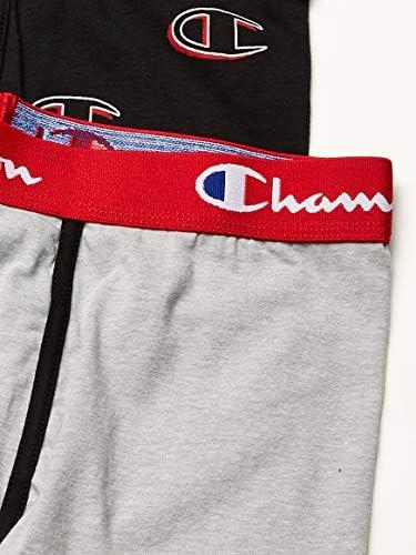 Champion Men's Everyday Comfort Cotton Stretch Boxer Briefs 3-Pack