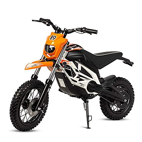 ECOXTREM Mini Moto Cross eléctrica Infantil, Color Naranja.: Amazon.es: Juguetes y juegos