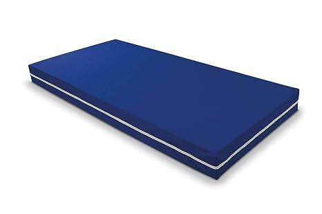 Duermete Colchón Viscoelástico Sanitario Ignífugo, Funda Impermeable, Azul, 90 x 190