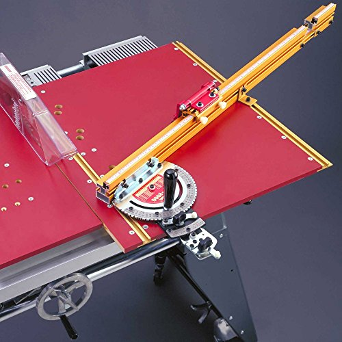 Incra MITER5000 Miter 5000 Table Saw Miter Gauge with Sled and Telescoping Fence (Standard Flip Stop)