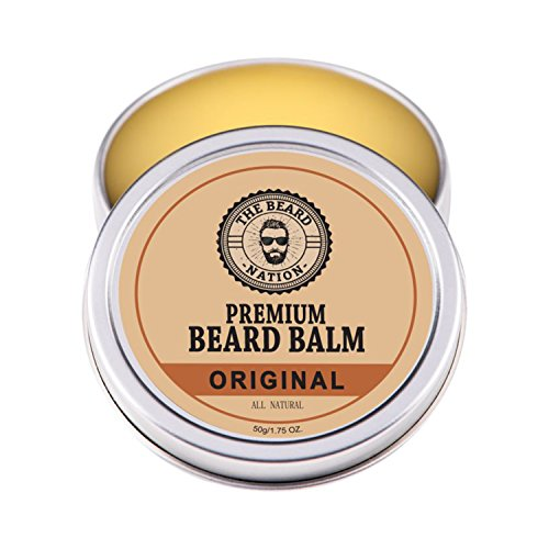 Ultimate Men's Beard Balm By The Beard Nation: Natural Leave-In Beard Conditioner w/ Essential Oils/Best Beard Grooming Product To Nourish & Soften Beard/ Perfect Hold, Potent Scent, Top Gift/ 1.75oz