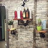 3 groups a set of Industrial Pipe Shelf 2 Layer Pipe Design Rustic Modern Wood Ladder Bookshelf DIY Wall Shelving