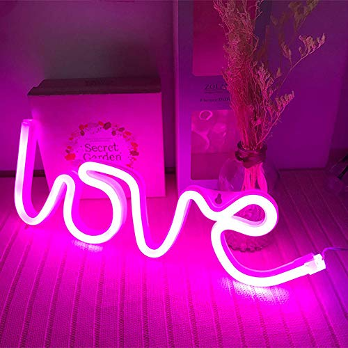 Neon Love Signs Light