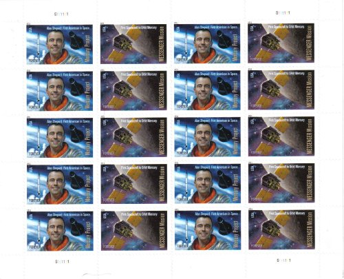 Commemorative Pane (Mercury Project and Messenger Mission (Forever®) Commemorative Stamps Pane of 20 Stamps)