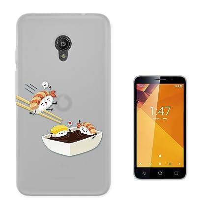 C01681 - Kawaii Sushi Fun Design Vodafone Smart Turbo 7 Fashion Trend CASE Gel Silicone All