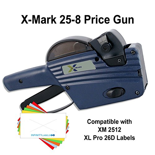 X-Mark Price Guns (10): TXM 25-8 Bulk PRICING [1 Line / 8 Characters] by Infinity Labels