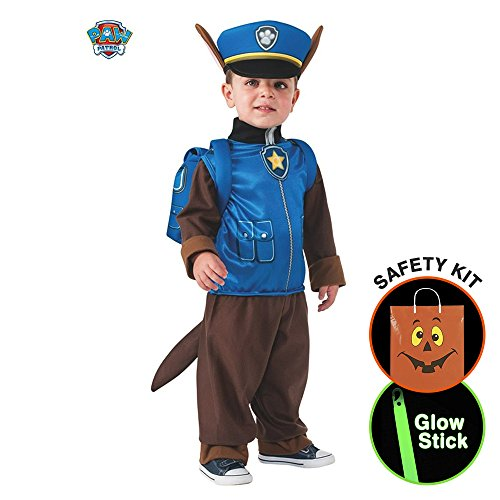 Boys Toddler Paw Patrol Chase Child Cos Halloween Trick or Treat Safety Kit Small (Paw Patrol Chase Toddler Costume)