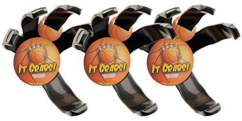 It Grabs Sportball Halter - Basketball - Schwarz - Hand Claw - Ball Halter - 3er Pack - Sparen Sie 15 Euro! It Grabs Europe