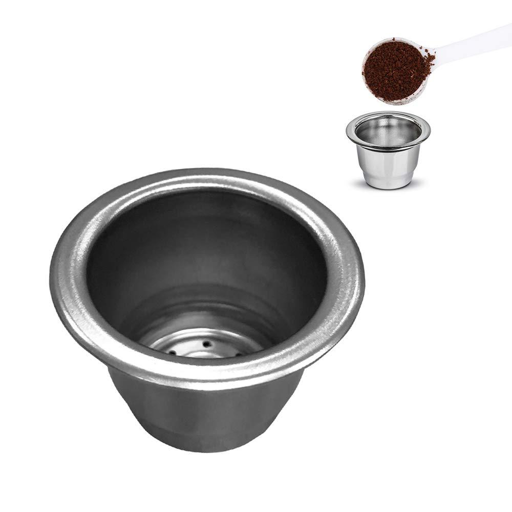 OurLeeme Capsula caff/è ricaricabile tazza filtro caff/è riutilizzabile in acciaio inossidabile Capsule caff/è Capsule Filtro per Nespressp
