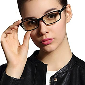 9a9bce6d5ded LianSan Anti Glare Tinted Womens Blue Light Blocking Mens Computer Glasses  Eye Strain Readers Clear With